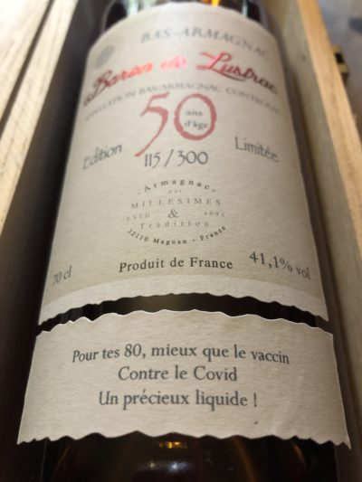 50 years old XO Armagnac Baron de Lustrac