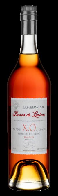 Bouteille Armagnac Baron de Lustrac XO 25ans d'âge